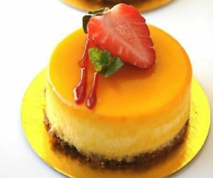 aesthetic, cheese cake, and vanilla image