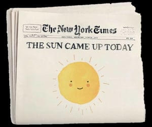 newspaper, png, and sun image