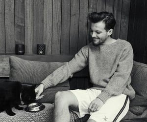 black and white, louis tomlinson, and louis tomlinson cute image