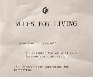inspiration, rules, and living image