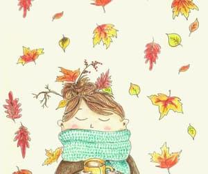 fall, autumn, and illustration image