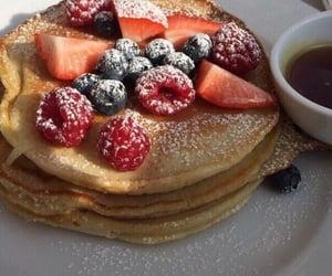 food, pancakes, and dessert image
