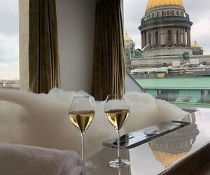 luxury, drink, and view image
