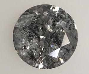 round brilliant diamond, rustic diamond, and salt and pepper diamond image