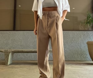 beige, suite, and pants image