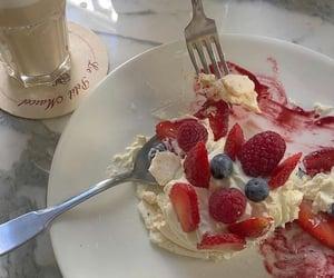 cake, cream, and delicious image