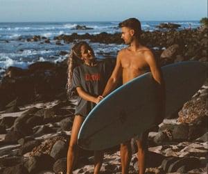 beach, boy, and casal image