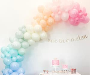 baloons, birthday, and garland image
