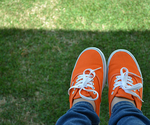 vans, photography, and orange image