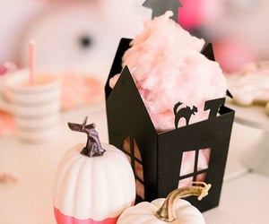 Halloween, algodon de azucar, and comida image