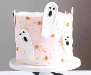 ghosts, Halloween, and cake image