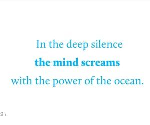 ocean, writer, and writing image