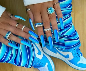 aesthetic, blue nails, and design image