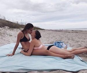 beach, gay, and girls love girls image
