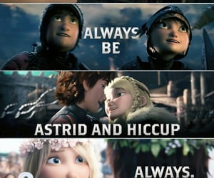 couple, astrid hofferson, and movie animation image