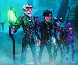 Claire, merlin, and trollhunters image