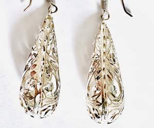Art Nouveau, sterling silver, and pierced earrings image