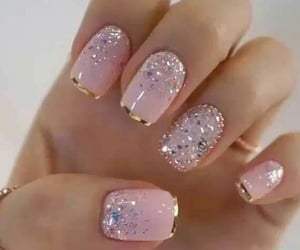uñas, manicure, and pink nails image