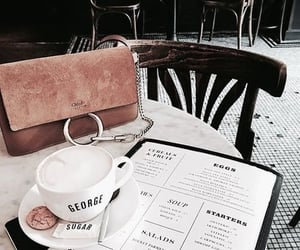bag, breakfast, and table image
