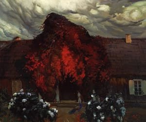 autumn, sky, and polish art image