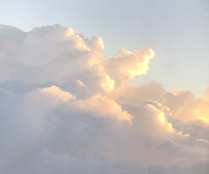 aesthetic, beige, and clouds image