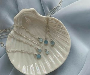 blue, aesthetic, and necklace image