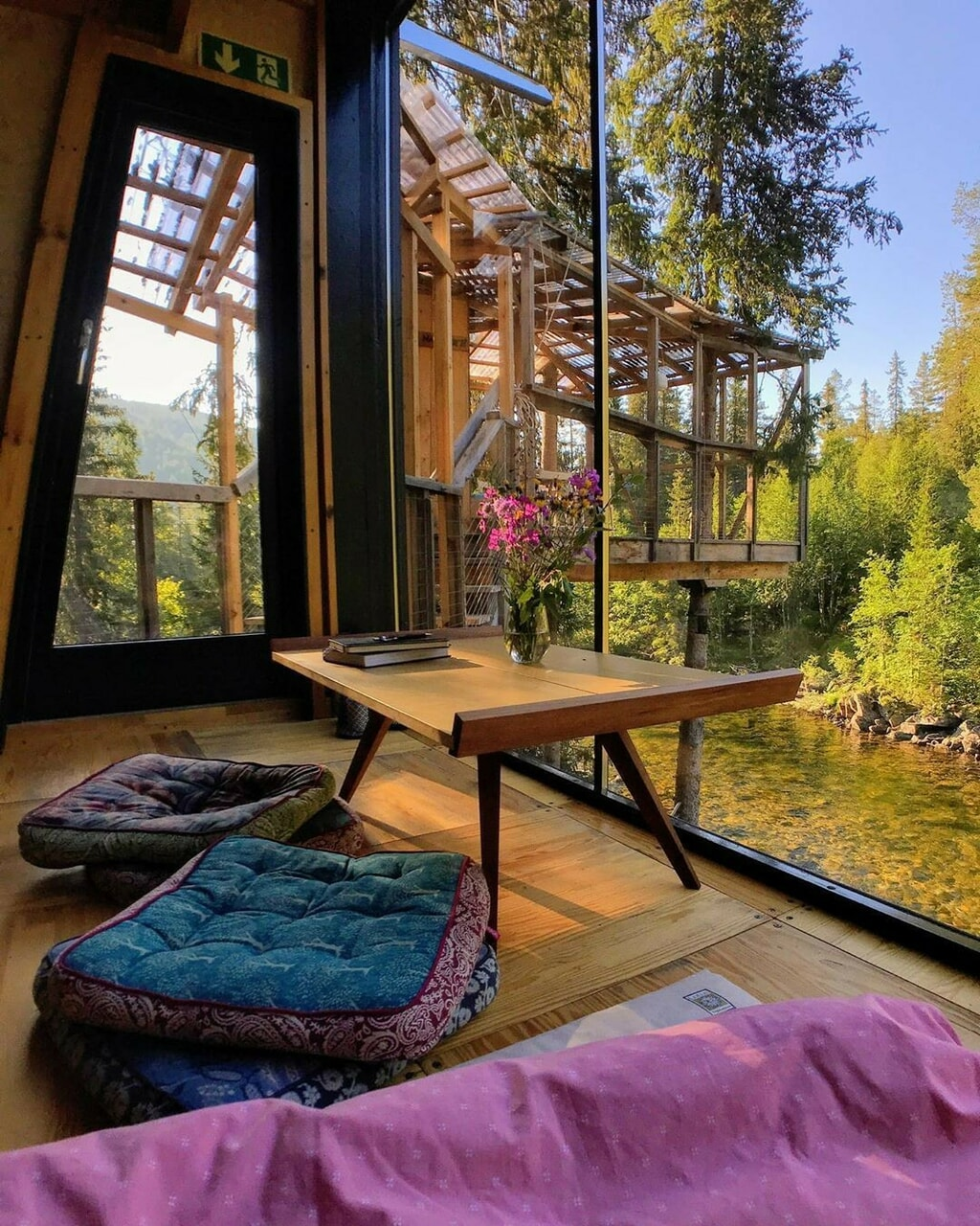 architecture, cabin, and comfy image