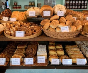 bakery, bread, and cinnamon roll image