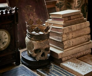 book, aesthetic, and skull image