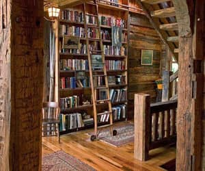 books, library, and decor image