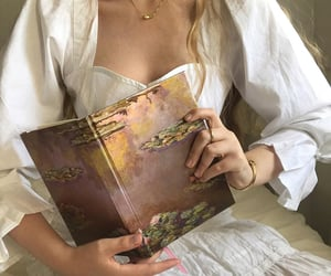 girl, book, and beauty image