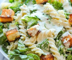 food, salad, and pasta image