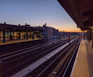 evening, metro, and skyline image