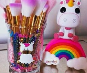 accessories, unicorns, and makeupbrushes image