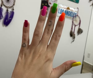 colorful, colorful nails, and colours image