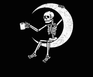 moon and skeleton image