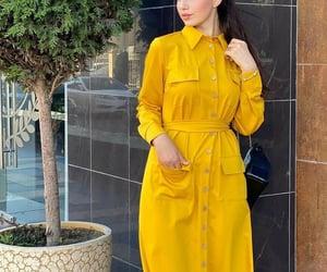 dresses, yellow, and fashion image