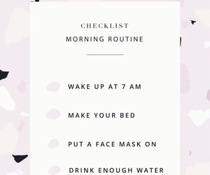 text, motivation, and morning routine image