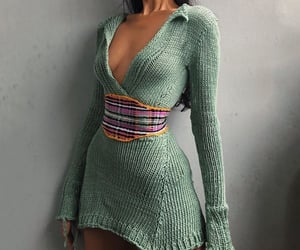 dresses, fashion, and knit dress image