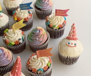 colourful, cupcake, and happy birthday image