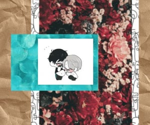 anime, artsy, and floral image