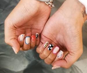 flames, nail art, and nails image