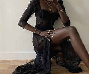 black dress, hair, and dress image