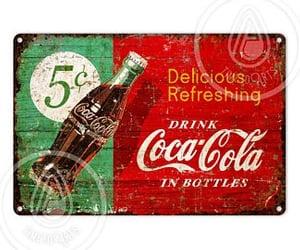 coca cola, coke, and sign image