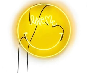 love me, neon, and smiley image