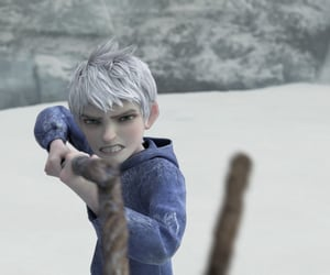 jack frost, rise of the guardians, and staff image