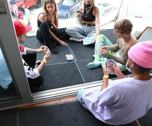 behind the scenes, justin bieber, and hailey baldwin image