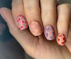 nails, art, and fruit image