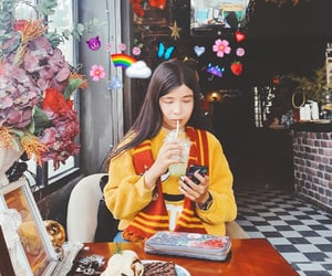 asian girl, cafe, and chill image