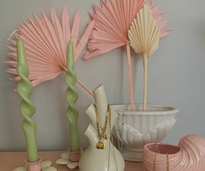 candles, decor, and pastel image